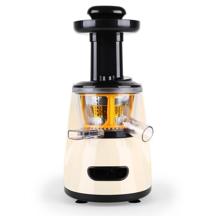 Fruitpresso Slow juicer vertical extracteur de jus lent 70t/mn -creme Creme Klarstein