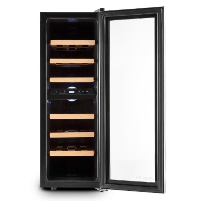 reserva duett 12 cave vin 65 litres 21 bouteilles 2 zones klarstein. Black Bedroom Furniture Sets. Home Design Ideas