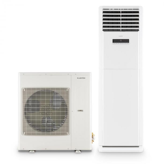 koloss inverter climatiseur split colonne 40000 btu t l commande classe a blanc klarstein. Black Bedroom Furniture Sets. Home Design Ideas