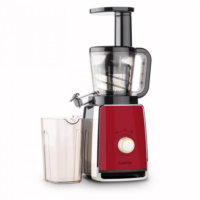 Slow Juicer Recipes Kiwi : Sweetheart Extracteur de jus Slow Juicer 150 W 32T/mn - rouge Rouge Klarstein