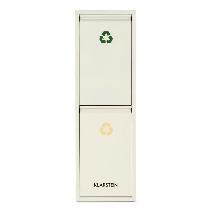poubelle cologique double tri s lectif recyclage 30 l 2 x 15 l klarstein. Black Bedroom Furniture Sets. Home Design Ideas