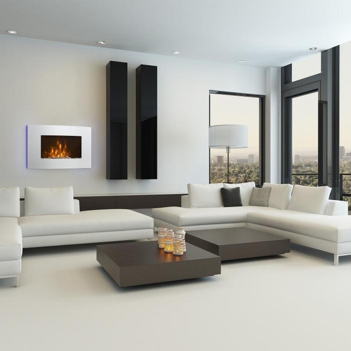 lausanne chemin e lectrique 1000w 2000w t l commande blanche blanc klarstein. Black Bedroom Furniture Sets. Home Design Ideas