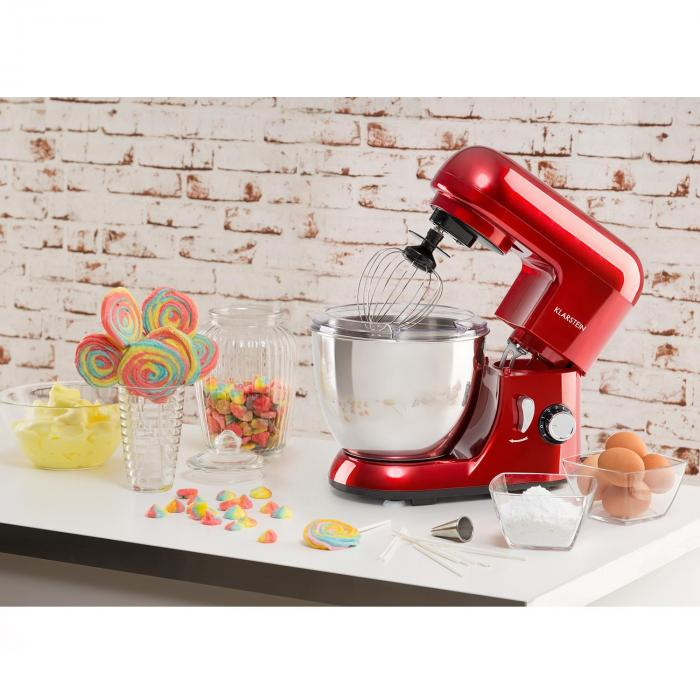 bella pico mini robot de cuisine 4 litres 800w 6 vitesses rouge rouge klarstein. Black Bedroom Furniture Sets. Home Design Ideas