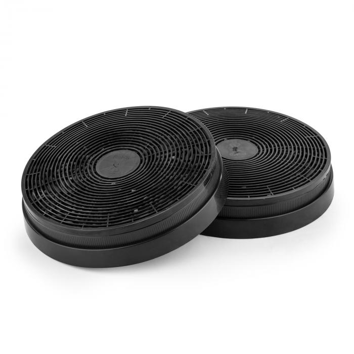 lot de 2 filtres charbon actif pour hotte aspirante 17 5 cm klarstein. Black Bedroom Furniture Sets. Home Design Ideas