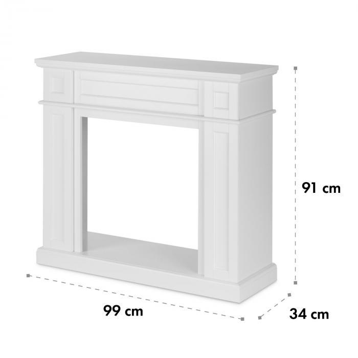 lausanne frame corps de chemin e mdf design classique blanc klarstein. Black Bedroom Furniture Sets. Home Design Ideas