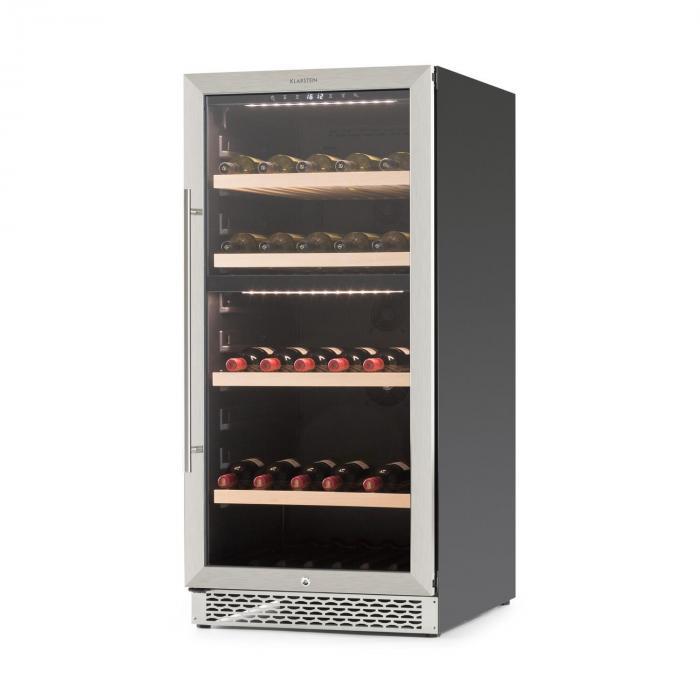 botella 120d cave vin r frig r e 261 l 2 zones de froid classe a klarstein. Black Bedroom Furniture Sets. Home Design Ideas